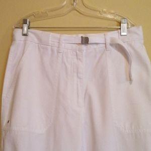 Ralph Lauren Ladies White Capris NWT